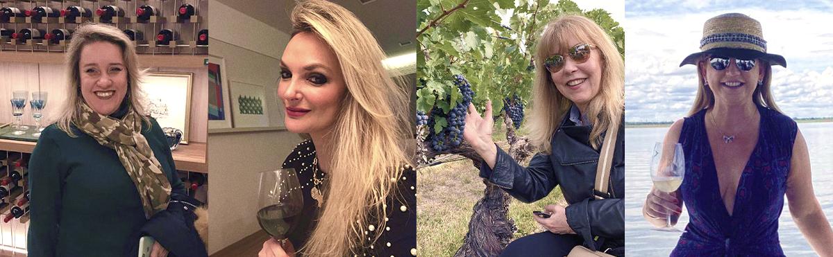 Mulheres que conhecem e apreciam um bom vinho!
